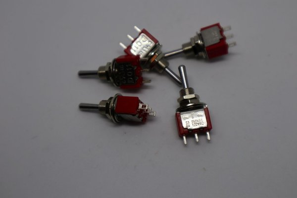 Mini Toggle Switch SPDT ON-OFF-ON long lever